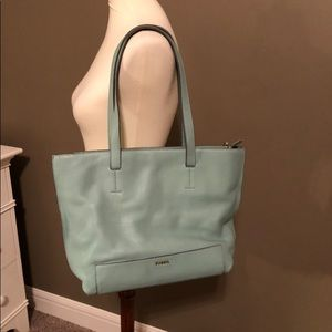Fossil mint tote purse